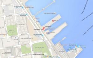Pier 3 San Francisco Location Map